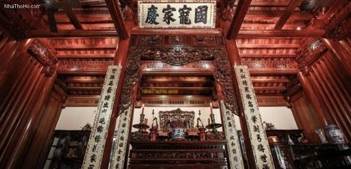 Thiết kế bàn thờ dành cho nhà thờ tổ truyền thống hợp phong thủy