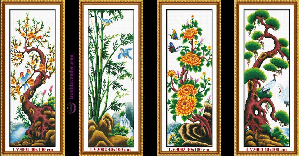 Có nên sử dụng tranh tứ quý treo phòng thờ hay không ?