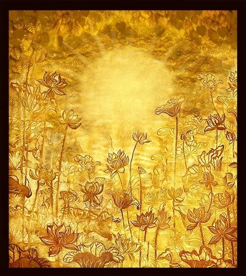 Top những bức tranh phòng thờ hoa sen ấn tượng của năm