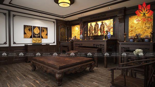 Các mẫu tranh xuyên sáng phòng thờ đẹp và chuẩn phong thủy