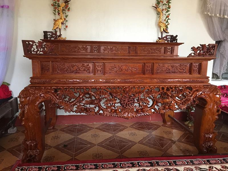 Các mẫu sập thờ 2 tầng đẹp thờ cúng ông bà tổ tiên