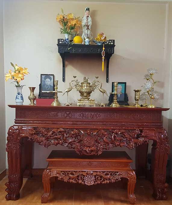 Các mẫu sập thờ chữ Phúc được chạm khắc tinh xảo nhất