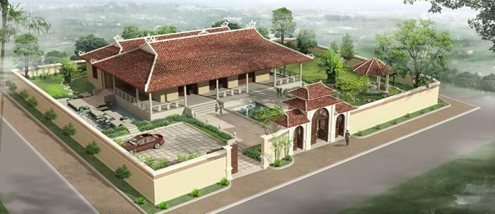 Mẫu thiết kế nhà thờ họ có hậu cung đẹp