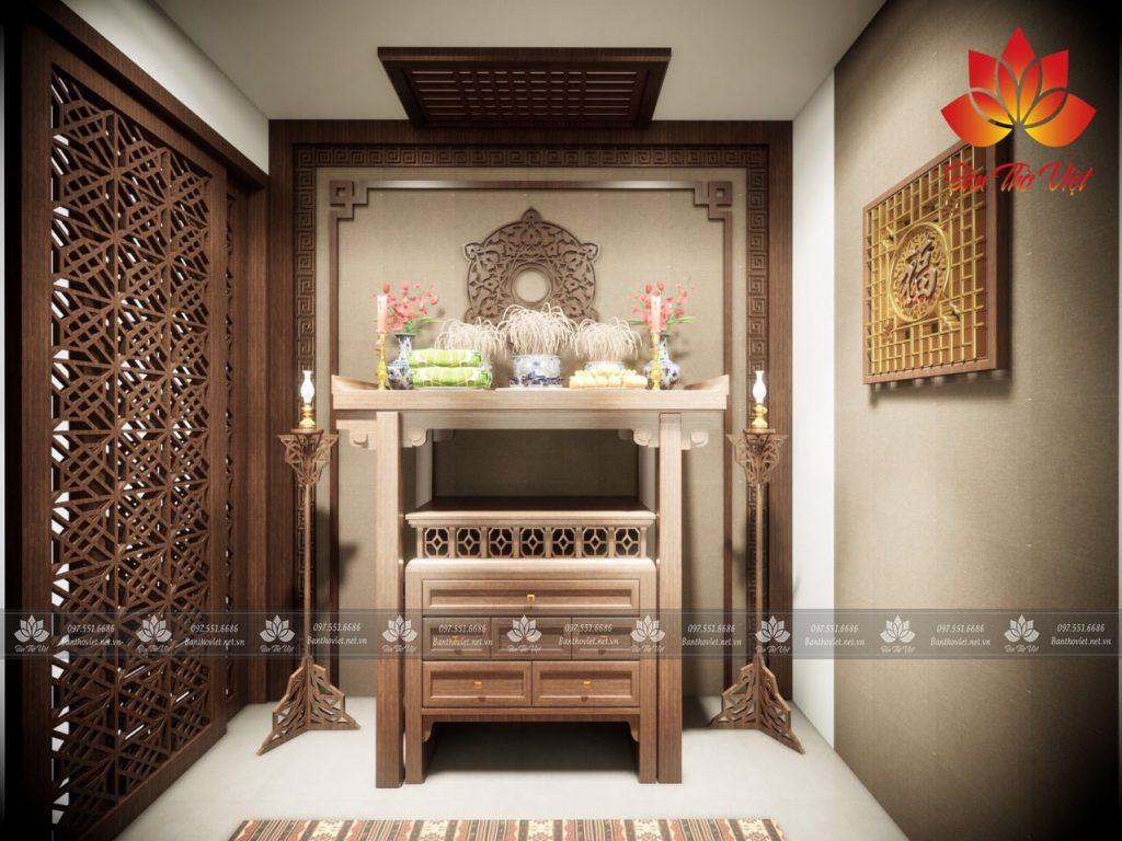 Các mẫu vách ngăn bàn thờ bằng gỗ được ưa chuộng nhất