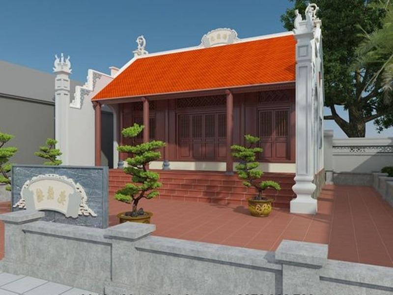 Mẫu nhà thờ họ giả bê tông đẹp