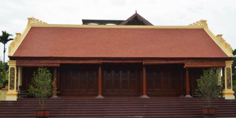 Mẫu nhà thờ họ 5 gian đẹp