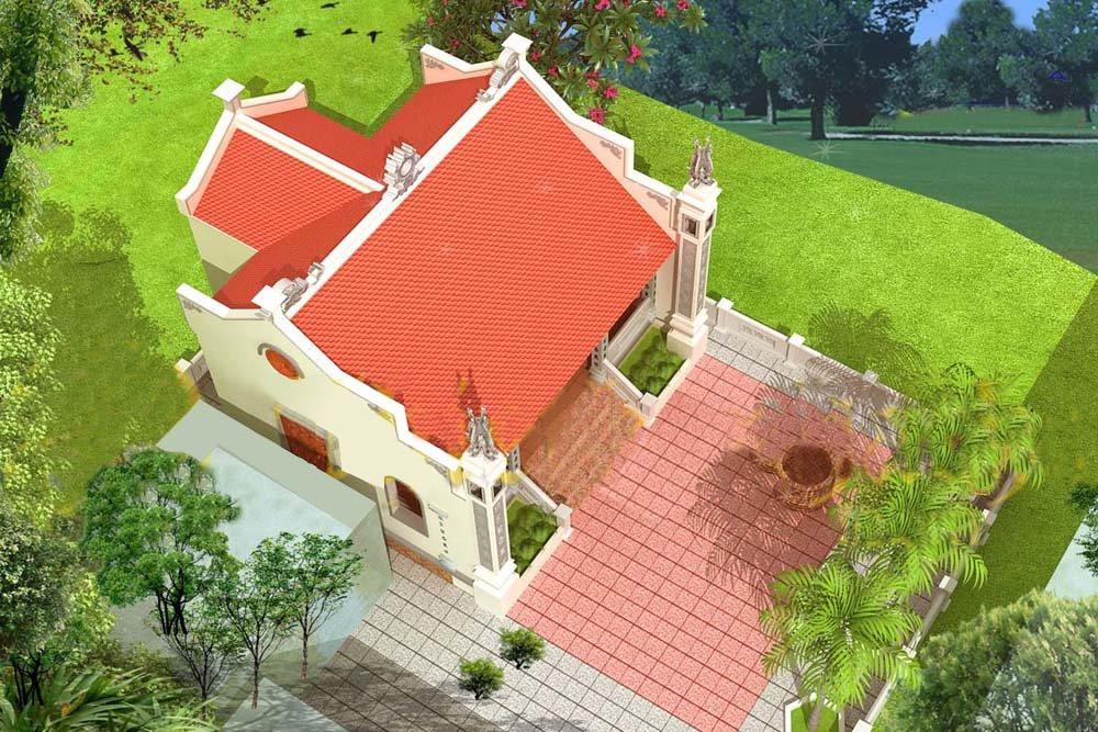 Mẫu thiết kế nhà thờ họ chữ Đinh đẹp đặc trưng quý tộc xưa