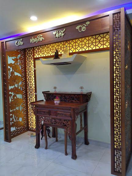 Vách ngăn bàn thờ - phòng thờ đẹp giá rẻ phong cách hiện đại