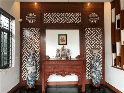 Mẫu phòng thờ ở Thanh Hóa được thiết kế theo tuổi gia chủ