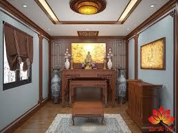 Mẫu thiết kế nội thất phòng thờ ở Hưng Yên đẹp