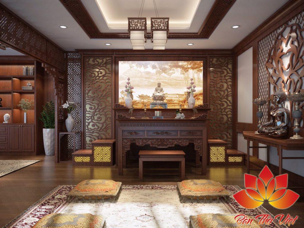 Thiết kế nội thất phòng thờ ở Thái Nguyên đẹp theo phong thủy
