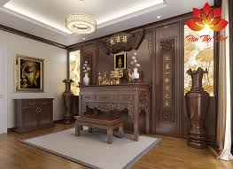 Địa chỉ thiết kế nội thất phòng thờ ở Long Biên Đẹp - Uy Tín