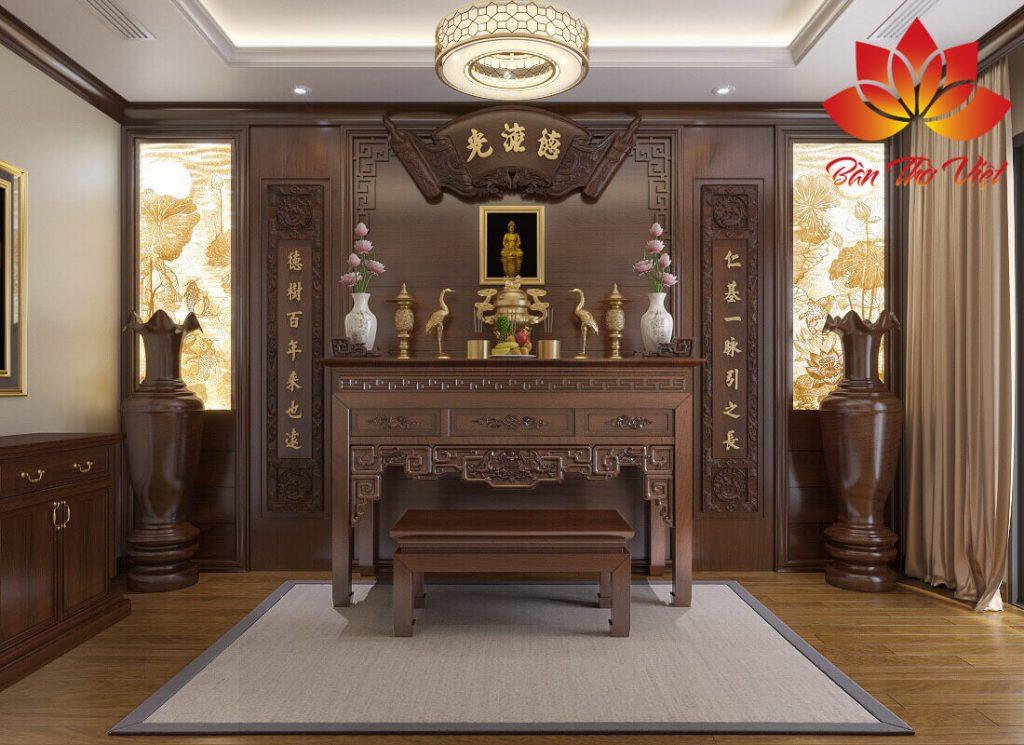 Thiết kế thi công nội thất phòng thờ ở Hà Nội Chuẩn phong thủy