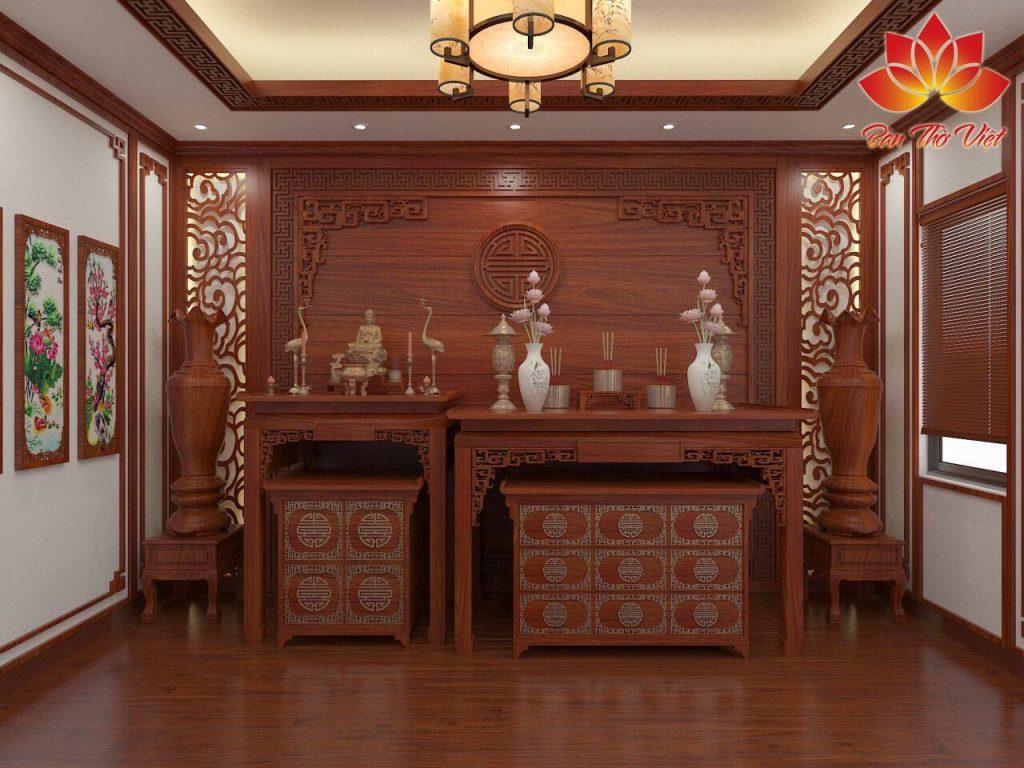 Thiết kế phòng thờ ở Hạ Long đẹp mẫu 3