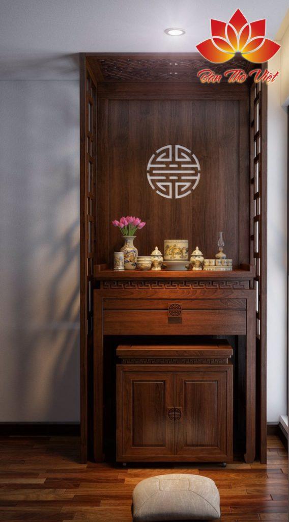 Thiết kế thi công nội thất phòng thờ ở Hải Phòng Giá Rẻ chuẩn phong thủy