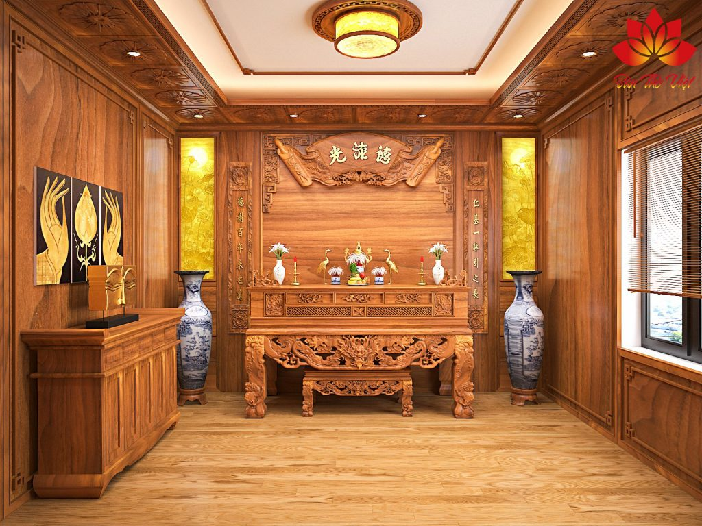 Tổng hợp các mẫu thiết kế nội thất phòng thờ ở Hòa Bình đẹp