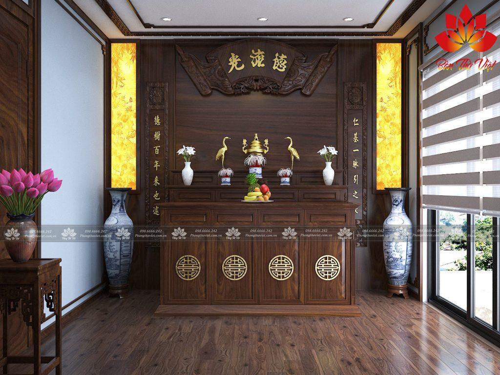 Thiết kế nội thất phòng thờ ở Vinh - Nghệ An uy tín