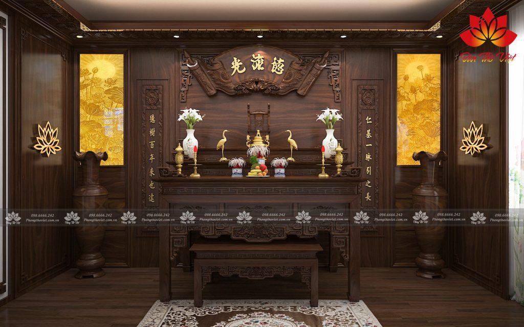 Lựa chọn vị trí đặt phòng thờ ở Sơn La thể hiện được tính trang nghiêm