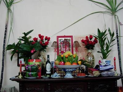 Ý nghĩa của phong tục thờ mía ngày Tết trên bàn thờ